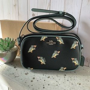 NWT COACH CROSSBODY POUCH WITH OWL PRINT